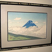 "Woodblock Print of ""Mt. Fuji from Nirasaka"" by Koichi Okumura"""