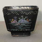 18th C. Chinese Lac-Burgaute Small Bowl