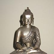 Superb Nepalese Silver Seated Buddha