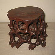SALE PENDING Chinese Carved Wood Table Pedestal