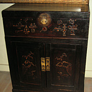19th C. Chinese Small Narrow Wood Chest
