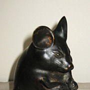 Japanese Bronze Okimono of a Small Mouse