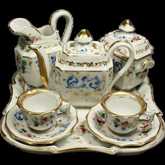 Luxurious Miniature Paris Porcelain Service for Your Doll