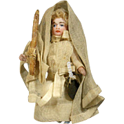 Antique Lilliputian Doll - The First Communion Girl