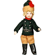 Antique All-Bisque Lilliputian Doll - The Russian Soldier