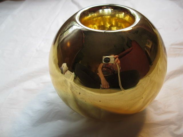 Vintage Gold Mercury Glass Vase