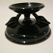 HOUZE Black Amethyst Glass MARION Bird Bath Pin Dish