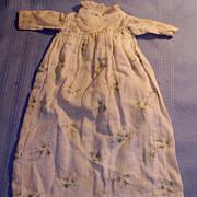High Waist Antique1880s Floral Print Pattern Cotton Doll Dress