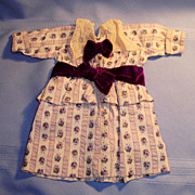 Hand Stitched Lavender and Lace Doll Dress with Purple Velvet Trim