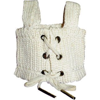 Old Small Size Antique Knit Doll Corset