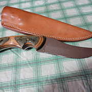 Custom made Hunting Knife and sheath