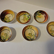 Vintage Nippon Hand painted Individual Nut Dishes Set of 6