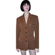 1990's DKNY Brown Woolen Jacket