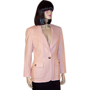 Michael Kors-Luscious Pink Single-Breasted Blazer
