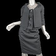 ca 1950 Christian Dior London Wool Suit Modele Original No. 33925