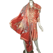 1920s Dress Fortuny Stencilled Velvet Italy