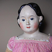 "Amazing 34"" RARE !! Antique Original Greiner Doll With Provenance"