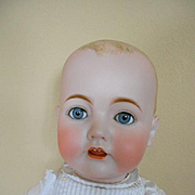 """Rare!  Dome Head Bisque Baby by Kestner! -29"""" Tall"""
