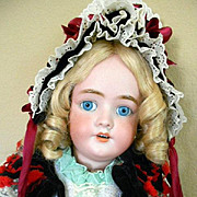 "Simon Halbig DEP 109 Bisque Doll-28"" Tall! Just Fabulous!"