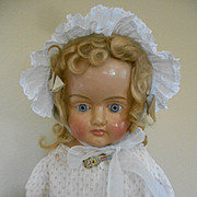 """SALE Spectacular Antique Paper Mache Doll -32"""" tall"""
