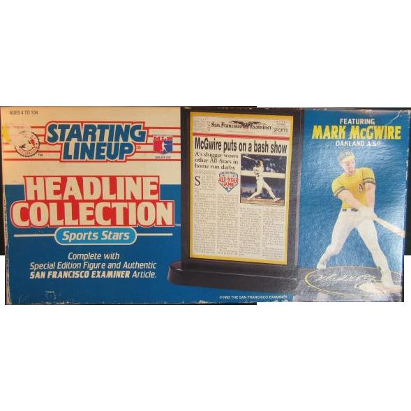 Mark Mc Gwire Starting Lineup Headline Collection 1992
