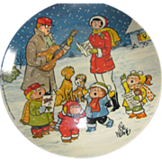 Vintage Christmas Collector Plate, Family Circus, by Bil Keane
