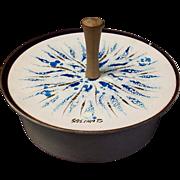 Sascha Brastoff Enameled Covered Dish