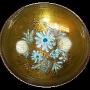 "Sacha Brastoff Enamel on Copper 8 1/4"" Bowl on Pedestal"