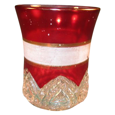 Heart Band Tumbler with Frosted and Gold Bands 1897