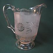 "EAPG ""Dahlia"" Pattern 1/2 Gallon Water Pitcher"