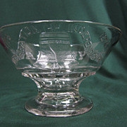 """EAPG Liberty Bell  8""""Footed Bowl"""