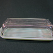 Jadeite Fire King covered Butter Dish