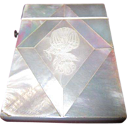 Vintage Mother of Pearl Visiting Card Case