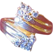 14 KT Gold and Diamond Cluster Ring