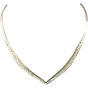 Italian Woven Sterling Necklace