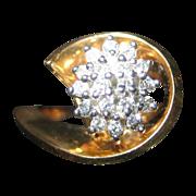 14 Karat Gold and Diamond Ring