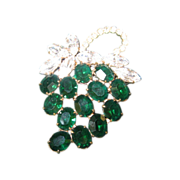 Grape Rhinestone Wiesner Brooch