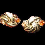 Coro goldtone and Rhinestone earrings