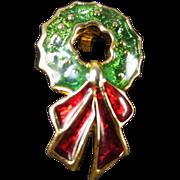 Signed Hedison Wreath Pin 1964 Mark