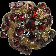 14K Gold and Garnet Ring