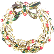 Gerry's Wreath Christmas Pin