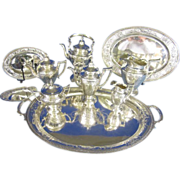 Gorham 10 pc Sterling Silver Serving Set, Maintenon Pattern