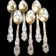 Set of 6 Sterling Demitasse Spoons