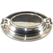 "Oneida Silverplate Covered Vegetable Dish ""Fiesta"""