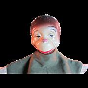Vintage Composition  Monkey Hand Puppet