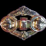 Vintage Coro Goldtone Brooch