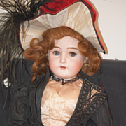 Antique Doll Bisque Large Unusual Antique Clothing