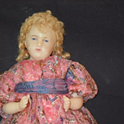 Antique Doll Wax English Glass Eyes Beautiful
