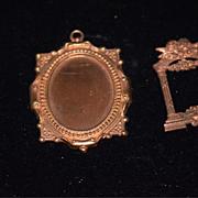 Old Doll Miniature Ornate Frames Frame Dollhouse Cherubs