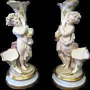 A Pair of Vintage Continental Bisque Porcelain Figures